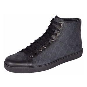 Gucci Black GG Monogram High Top Sneakers